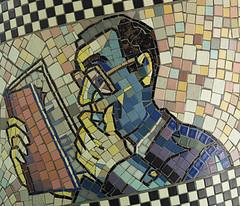 man-reading-book-mosaic