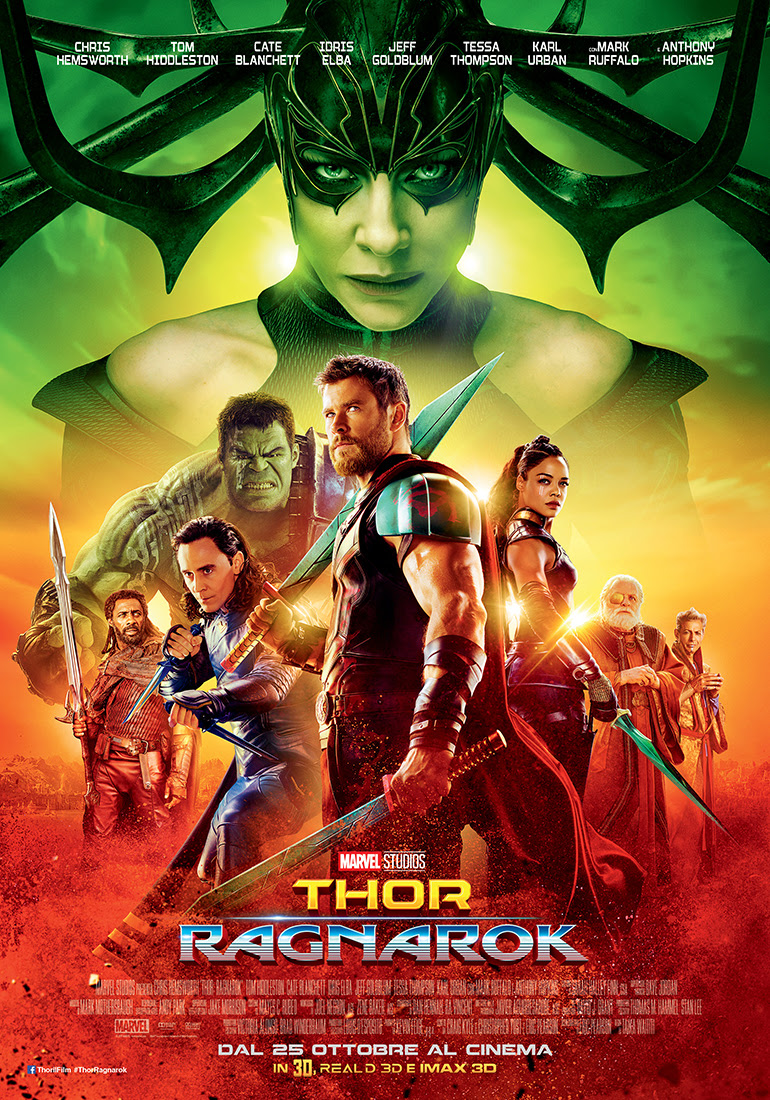 Thor: Ragnarok, la locandina